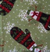 Snowman Mitten Flannel