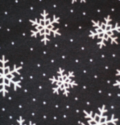 Black Snowflake Flannel