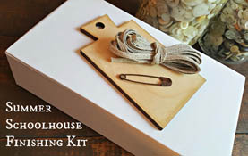 Summer Schoolhouse - Lessons in Abecedarian Finishing Kit