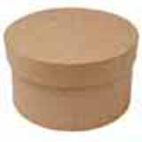 "4"" Round Paper Mache Box"