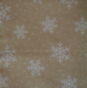 Tan Snowflakes Flannel