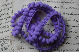 Pretty Purple Mini Pom Pom Trim