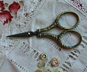 Gold Round Handle Scissors
