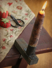 "4"" Primitive Shelf Candle Holder"