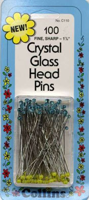 Crystal Glass Pins