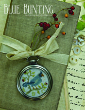 Blue Bunting Pattern/Watch Frame Kit
