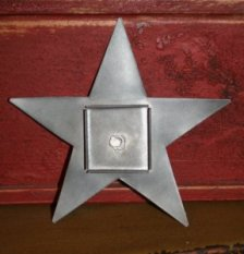 Flanged Tin Star Frame