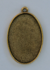 Grande Pendant Oval Single Loop - Gold