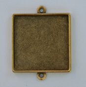 Grande Pendant Square Double Loop - Gold