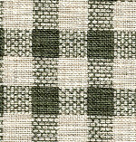 Green & White Gingham Fabric