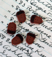Tiny Acorn Buttons