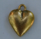 Large Heart Charm - Gold