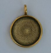 Large Pendant Circle - Gold
