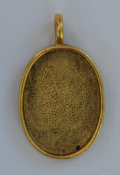 Large Pendant Oval - Gold