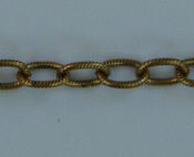 Large Textured Cable Chain - Gold