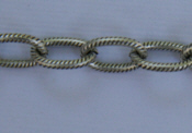 Large Textured Cable Chain - Silver