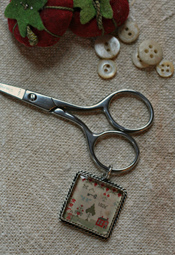 School Girl Scissors & Fob - Mary's Best (silver)