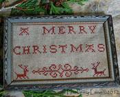 A Merry Christmas Redwork Sampler