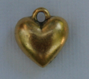 Small Heart Charm - Gold