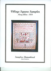 Mary Allen, 1818 - Village Square Sampler