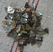 "1/2"" Triangle Mother of Pearl Buttons"