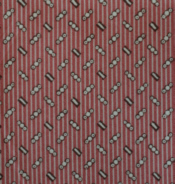 Pink & Brown Circles on Stripes