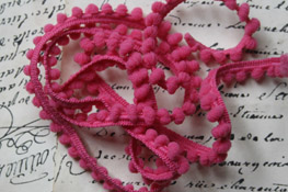Pink Carnation Mini Pom Pom Trim