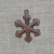 Tiny Rusty Snowflake Charm