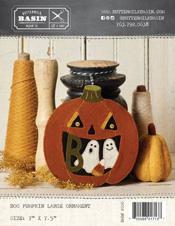 Boo, Pumpkin Ornament