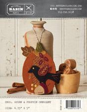 Crow, Acorn & Pumpkin Ornament