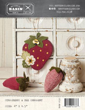 Strawberry and Bee Ornament