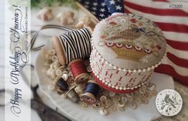 Happy Birthday, America!  pattern + red alphabet fabric