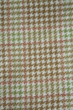 Tan/Red Woolies Flannel Houndstooth