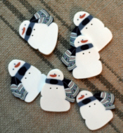 Country Snowman Button