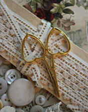 Little Love Scissors - Gold