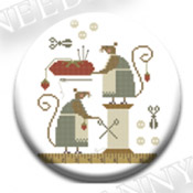 Mice in the Sewing Room Needle Nanny
