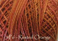 Rusted Orange Pearl Cotton