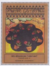 Red Geraniums Table Mat