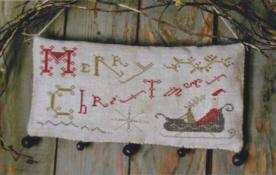 Merry Christmas Hanging Sampler