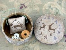 Two Hares Marking Sampler Sewing Box