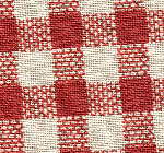 Red & White Gingham Fabric