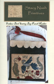 Fraktur Bird Sewing Bag Punch Needle