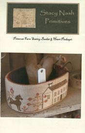 Primrose Farm Sewing Basket & Heart Pinkeep