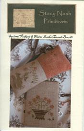 Squirrel Pinkeep & Flower Basket Thread Board