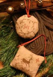Homespun Christmas Pinkeep Ornaments
