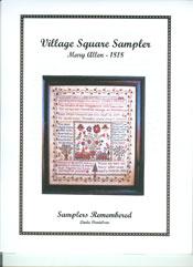 Mary Allen, 1818 - Village Square Sampler